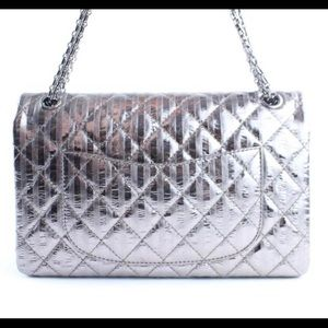 CHANEL Bags - Authentic Chanel Metallic 2.55 Striped Reissue 227
